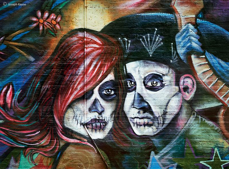 Day of the Dead Street Art Mural.