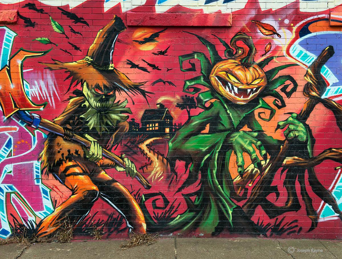 halloween,graffiti,chicago,street,art, photo