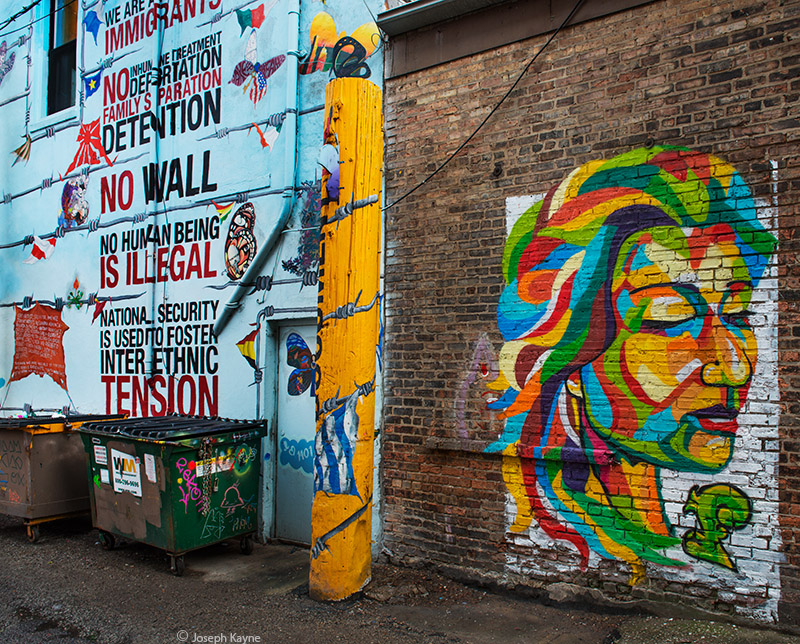 pro,immigration,alley,chicago, photo