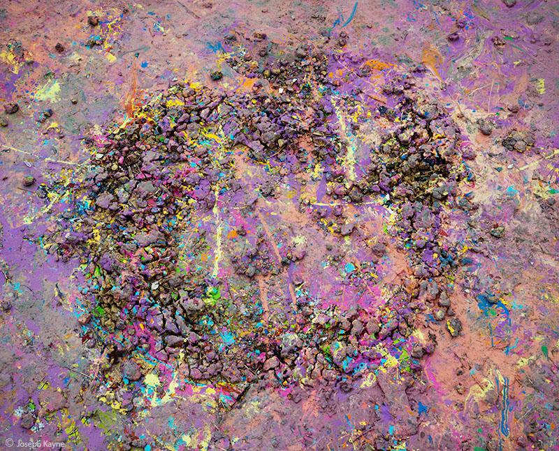 Abstract Paint Droppings Below The Graffiti Wall
