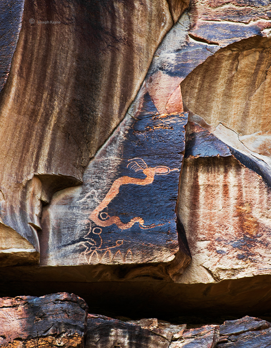 loane,serpent,pictograph,utah, photo