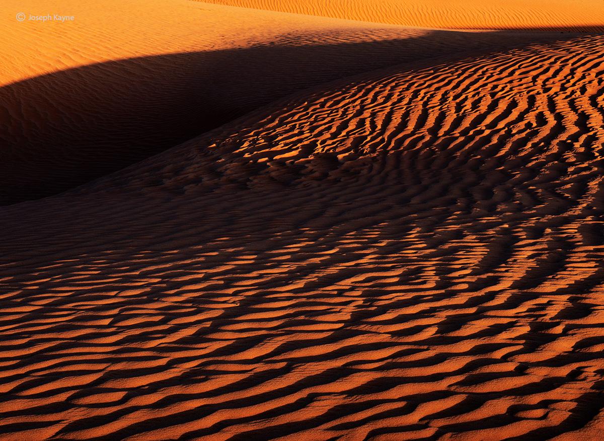 Sand Dunes At The Base Of The Lukachukai Mountains