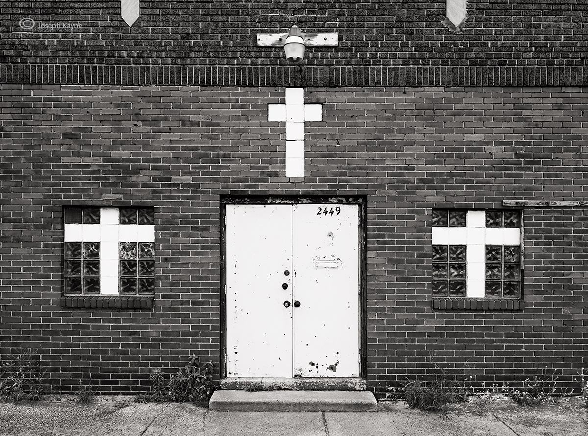 abandoned,storefront,church,indiana, photo