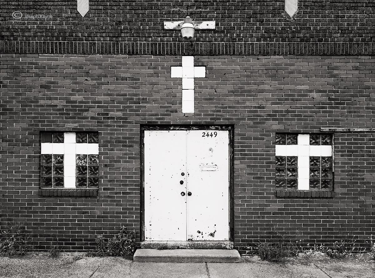 abandoned,storefront,church,indiana, photo