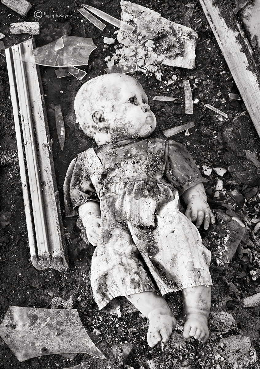 apocalypse,discarded,doll,abandoned,building,chicago, photo