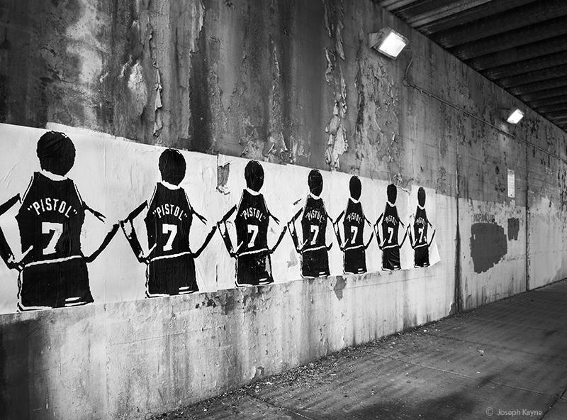 pistol,pete,maravich,street,art,chicago, photo