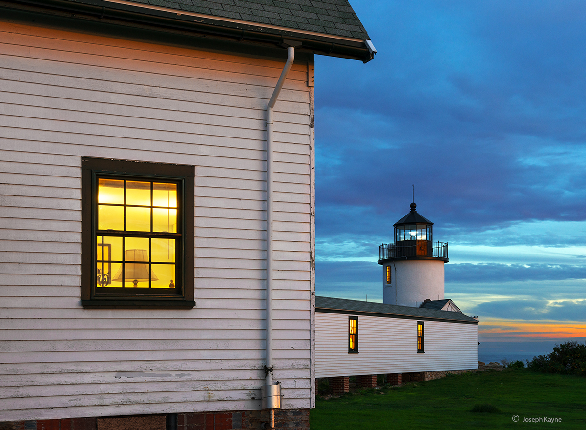 goat,island,lighthouse,dusk,maine, photo