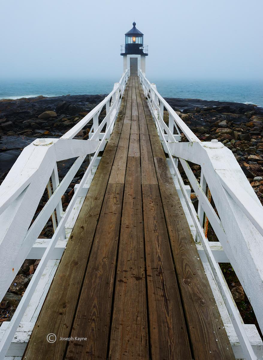 foggy,morning,lighthouse,maine, photo