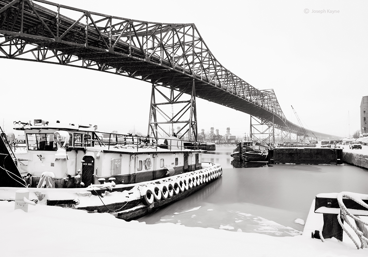 Tugboat,WinterLake Michigan