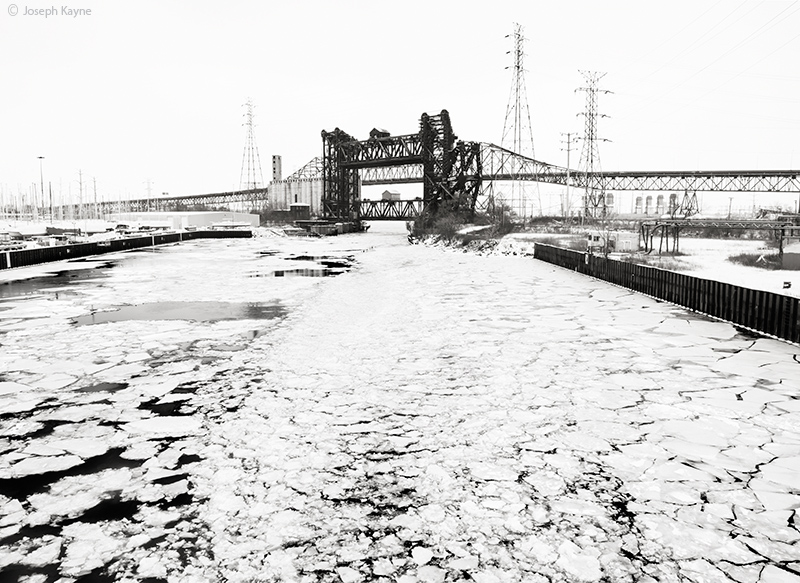 chicago,skyway,calumet,river,polar,vortex, photo