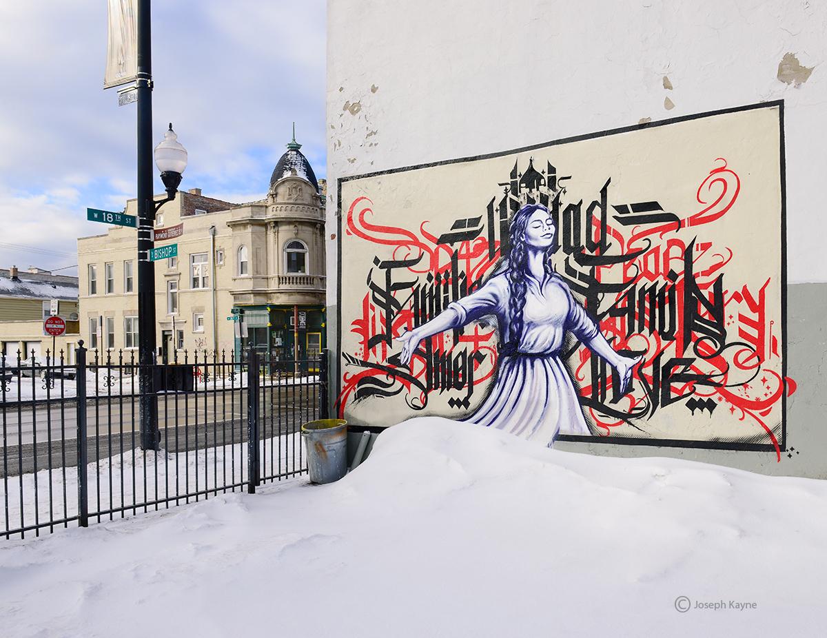 pilsen,street,art,chicago,winter, photo