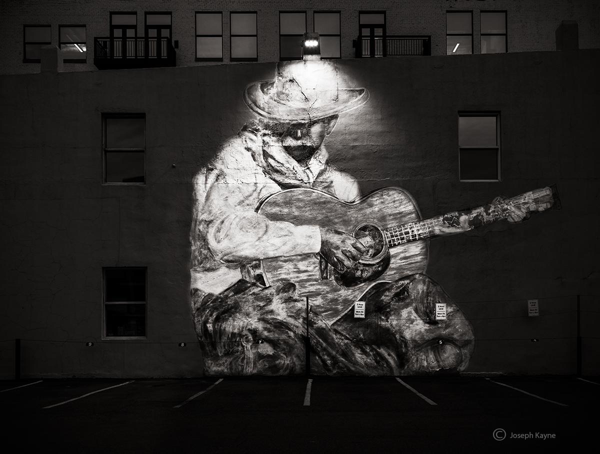 faded,old,cowboy,denver,colorado,mural, photo