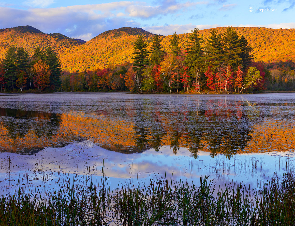 autumn,vermont,pond,sunset, photo