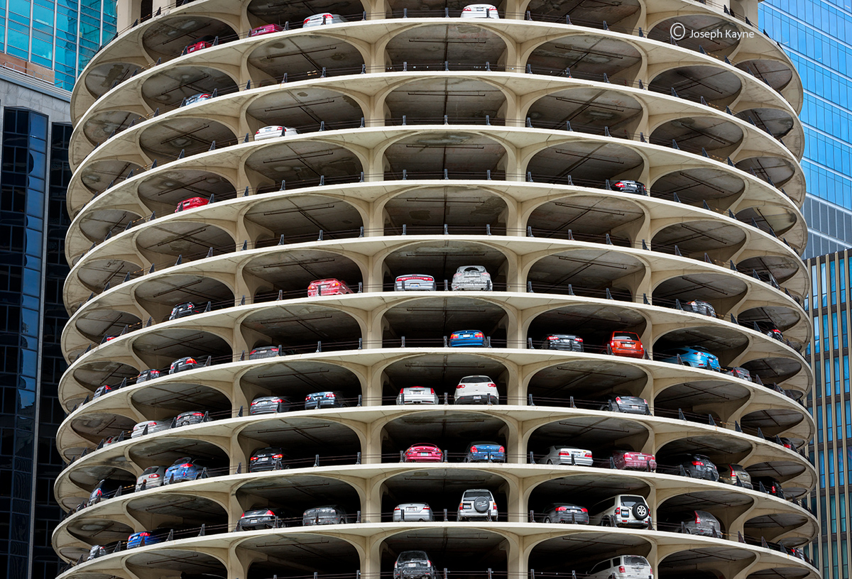 marina,towers,parking-structure,chicago, photo