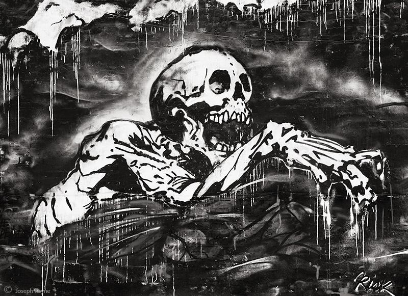 Chicago Skeleton graffiti