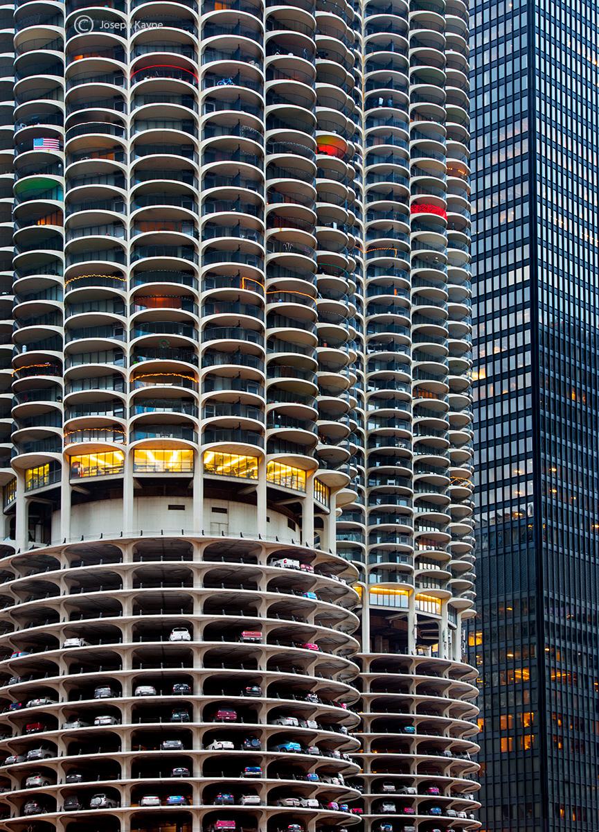 futurama,marina,towers,chicago,christmas, photo
