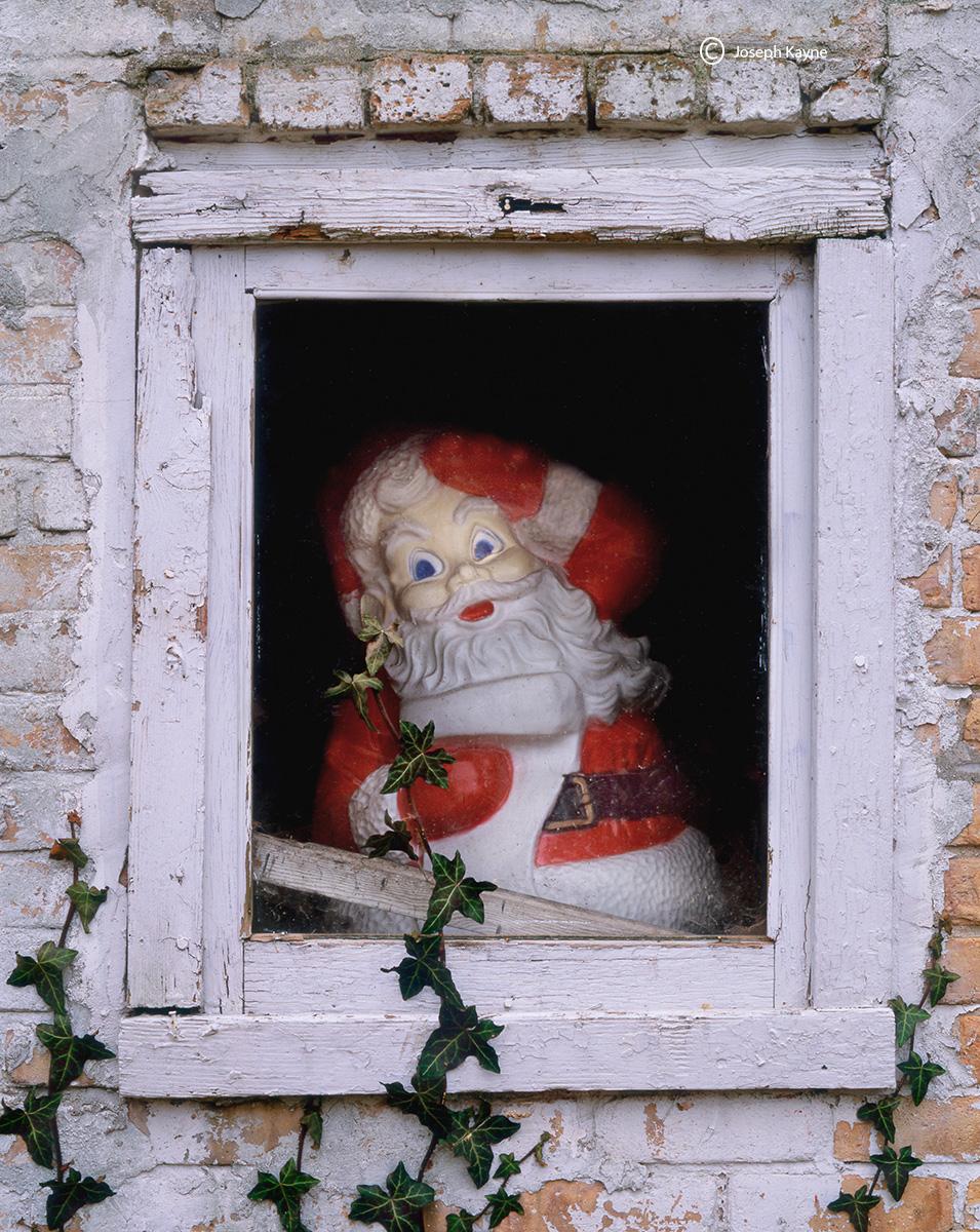 Old Santa Clause Decoration, Barn Window
