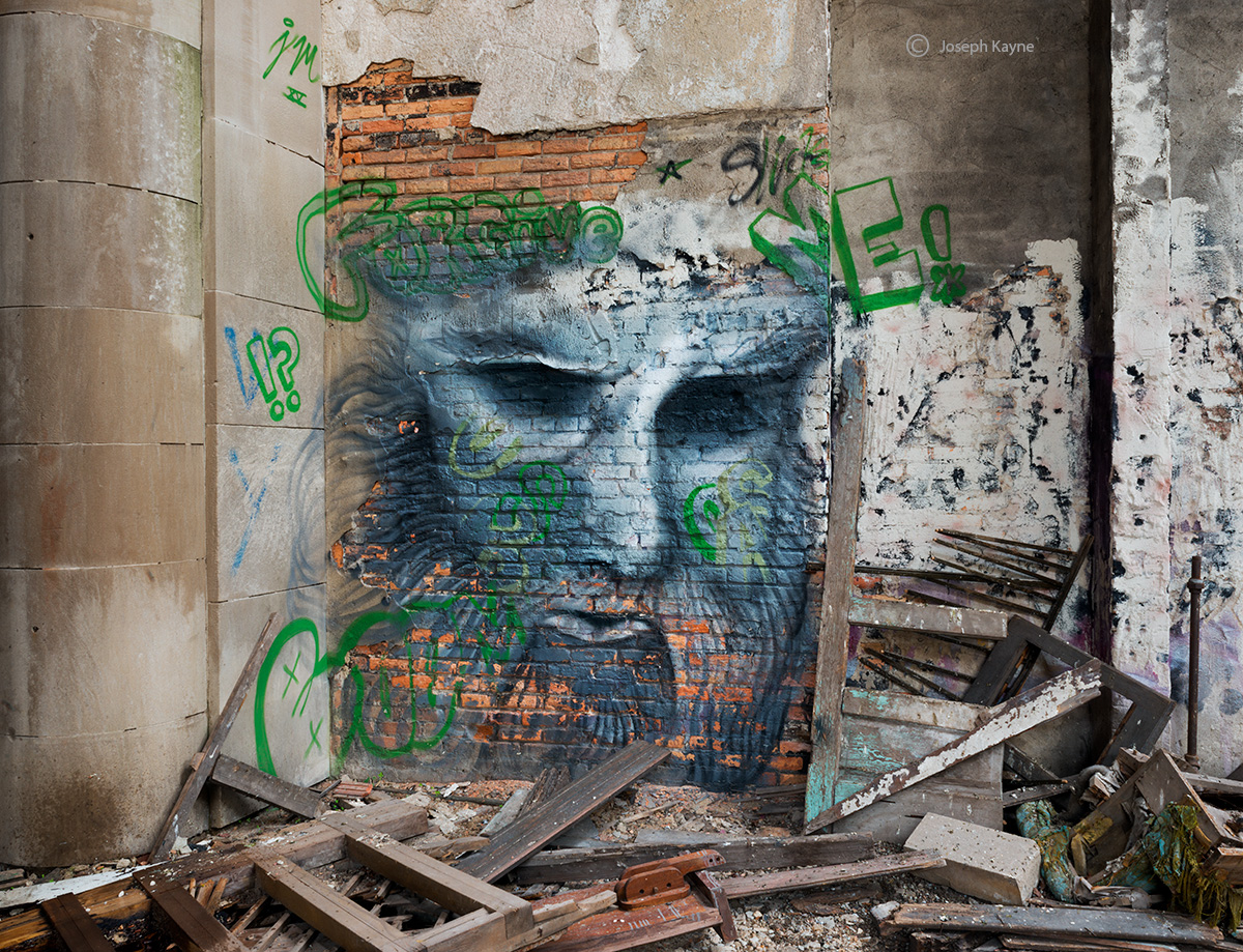what,have,you,done,street,art,abandoned church,chicago,illinois, photo