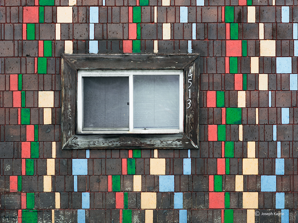 spumoni,wisconsin,solitary,window,color,patterns, photo