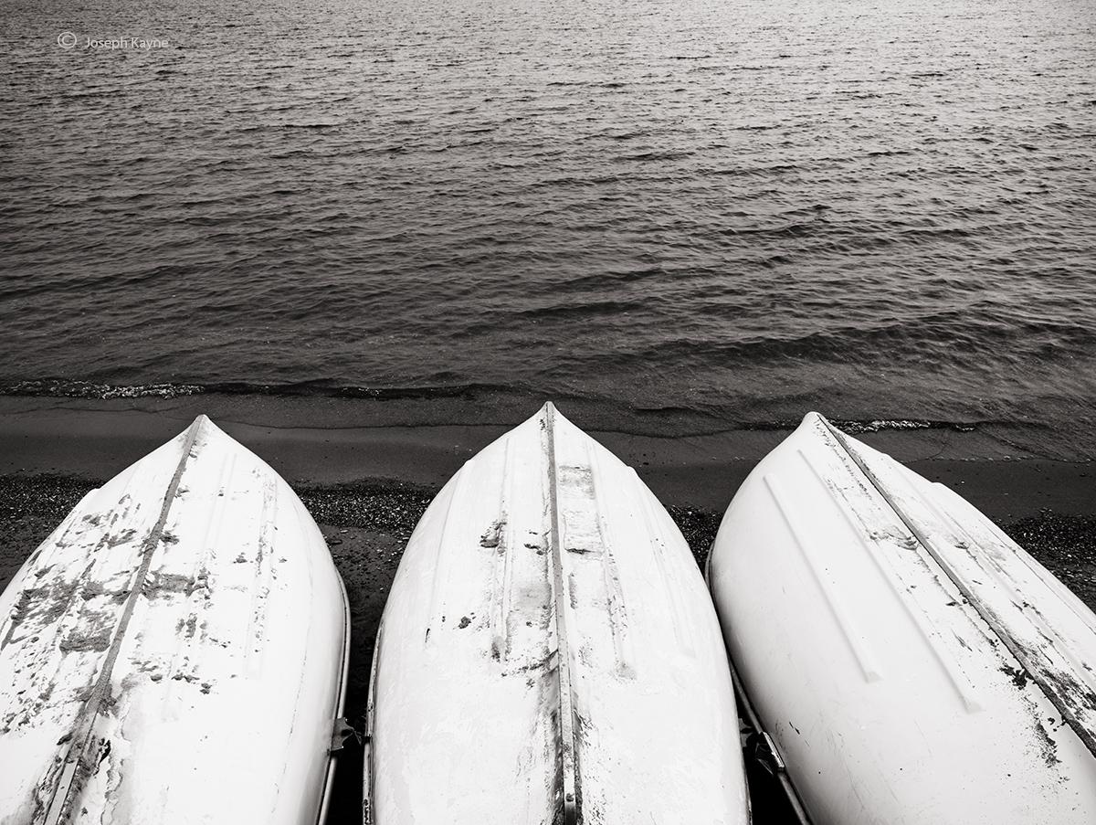Three Boats,Lake Michigan