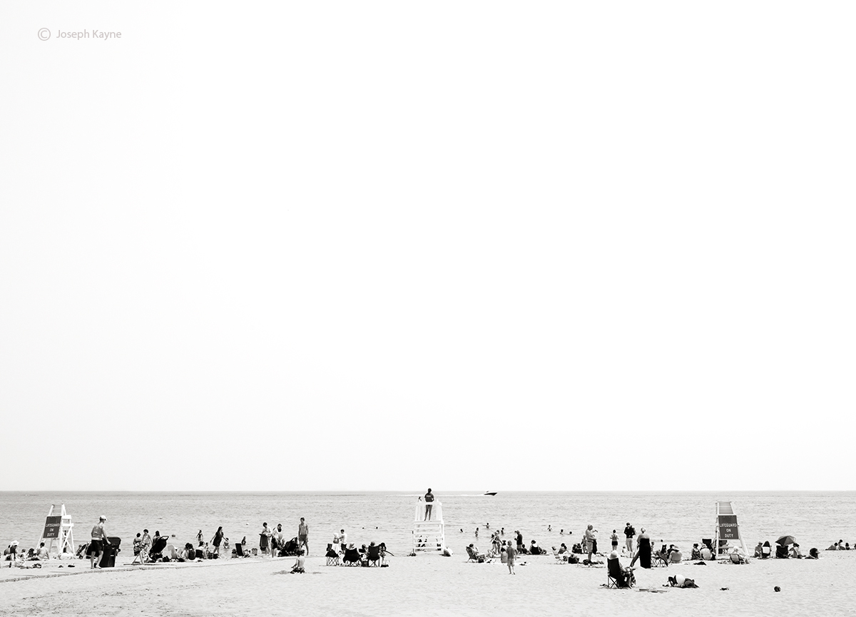Beachgoers,Lake Michigan