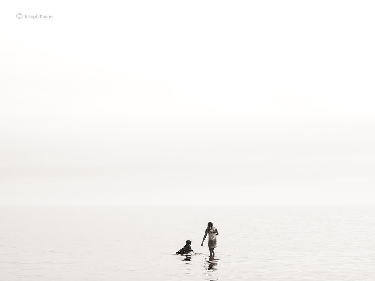 A Girl & Her Dog,Lake Michigan