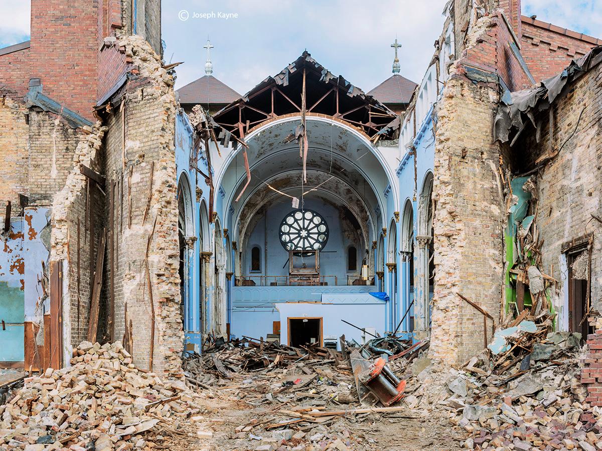 apocalypse,razing,st,dominics,church,chicago, photo
