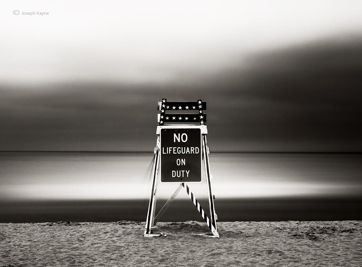 No Lifeguard On Duty,Lake Michigan