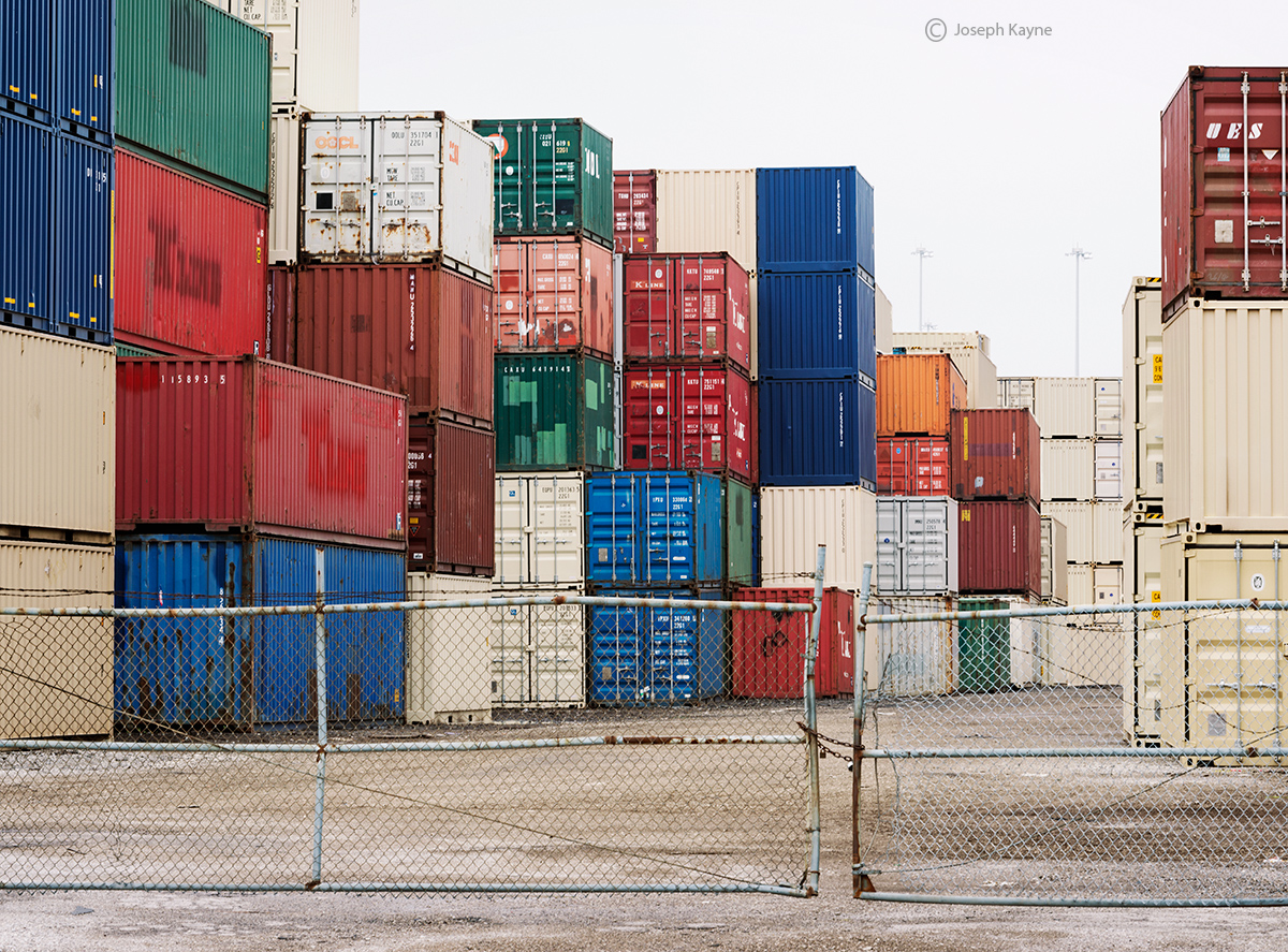 stacked,shipping,containers,chicago, photo