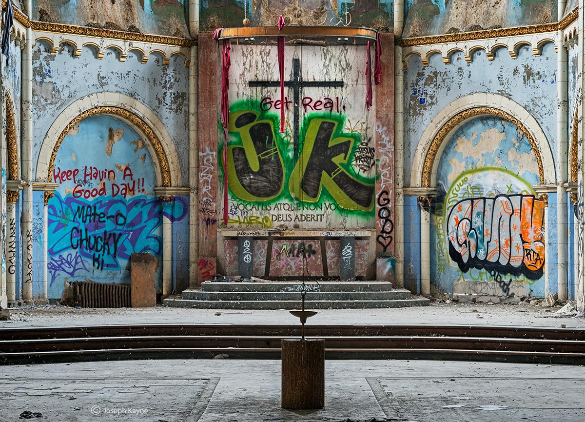 JK,abandoned,church,chicago,westside, photo