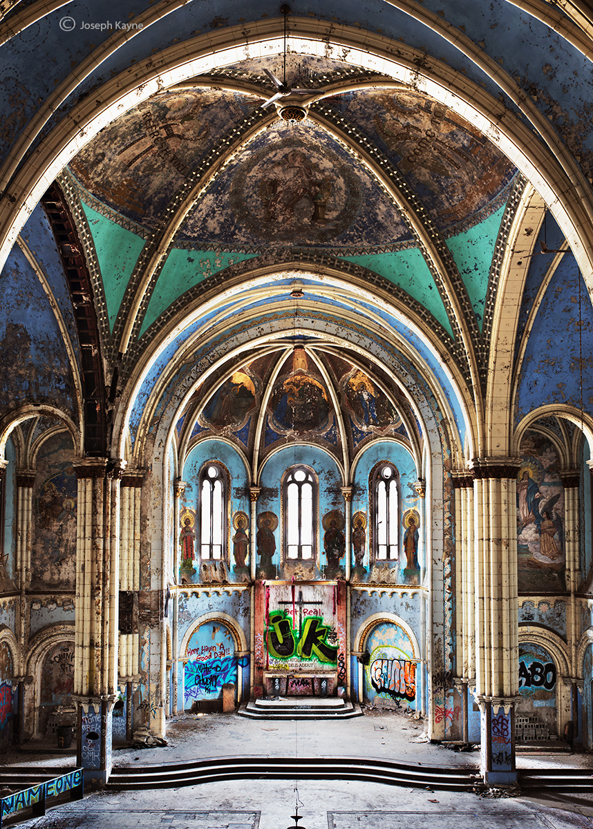 forgotten,cathedral,abandoned,chicago,church, photo