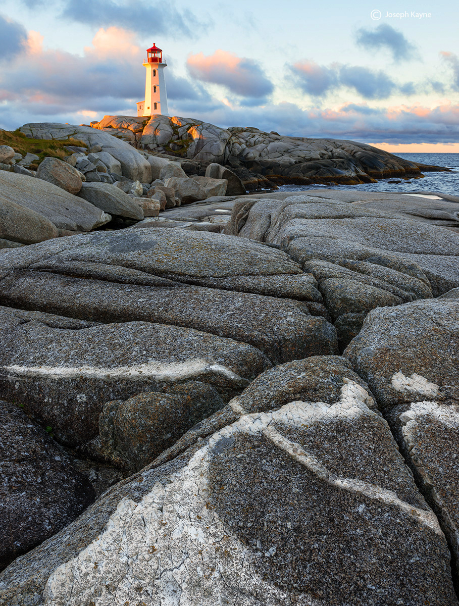 peggys,lighthouse,sunrise,nova,scotia, photo