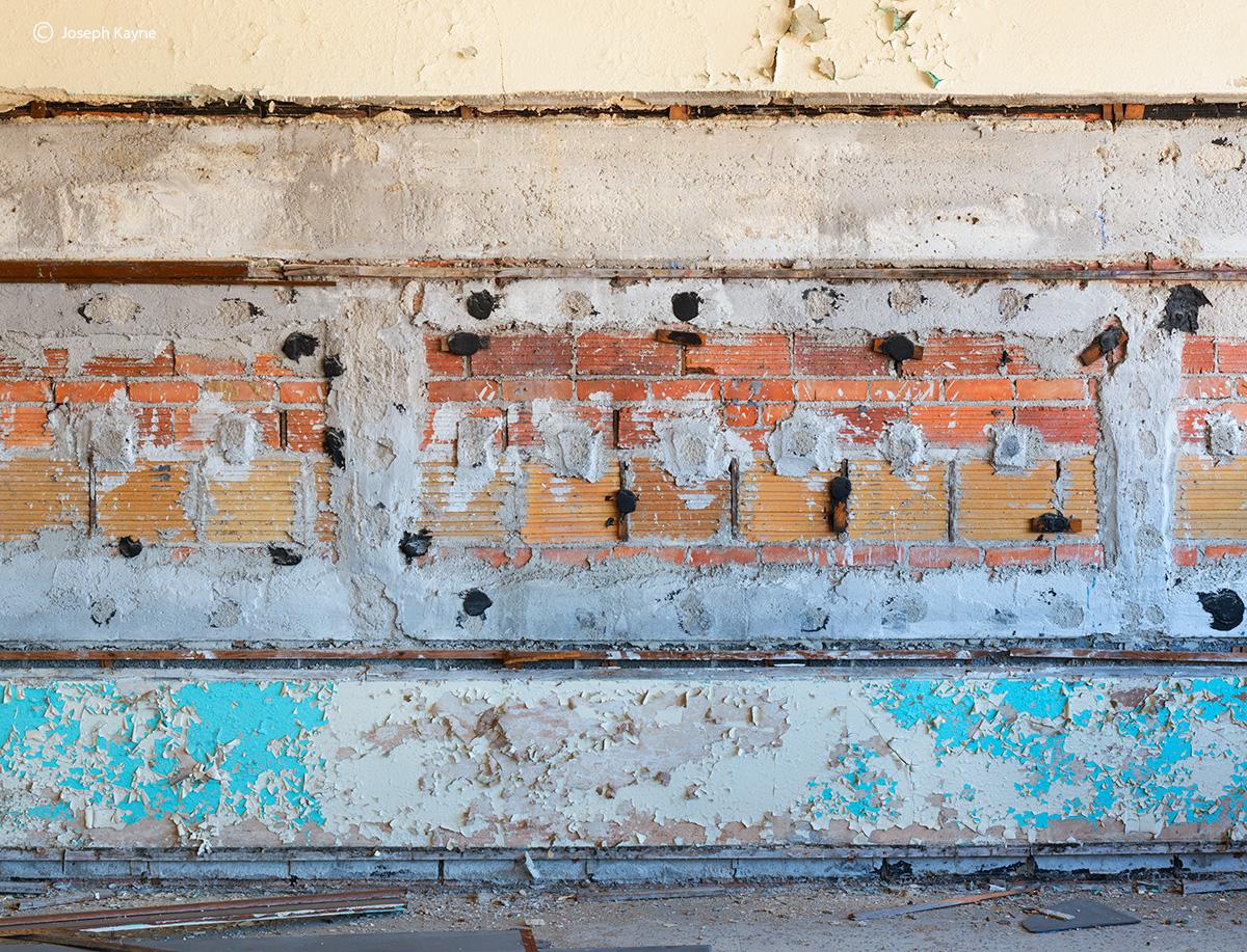 scalped,missing,blackboard,abandoned,schoo,rust,belt, photo