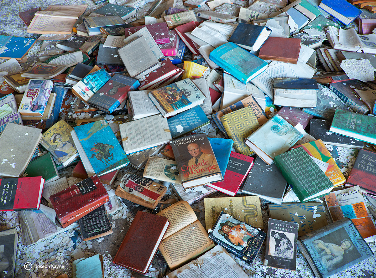 fallen,stars,abandoned,school,forgotten,books, photo