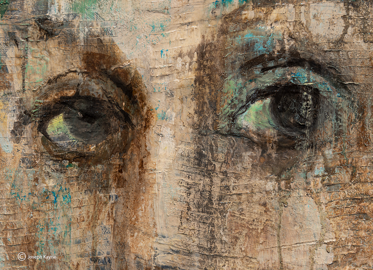 eyes,painting,detail,corinna,button,studio,chicago, photo