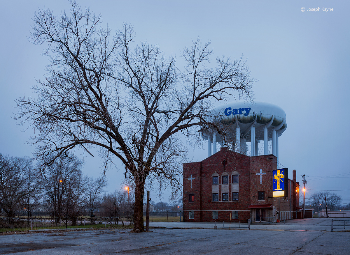 gary,water,tower,indiana,church, photo