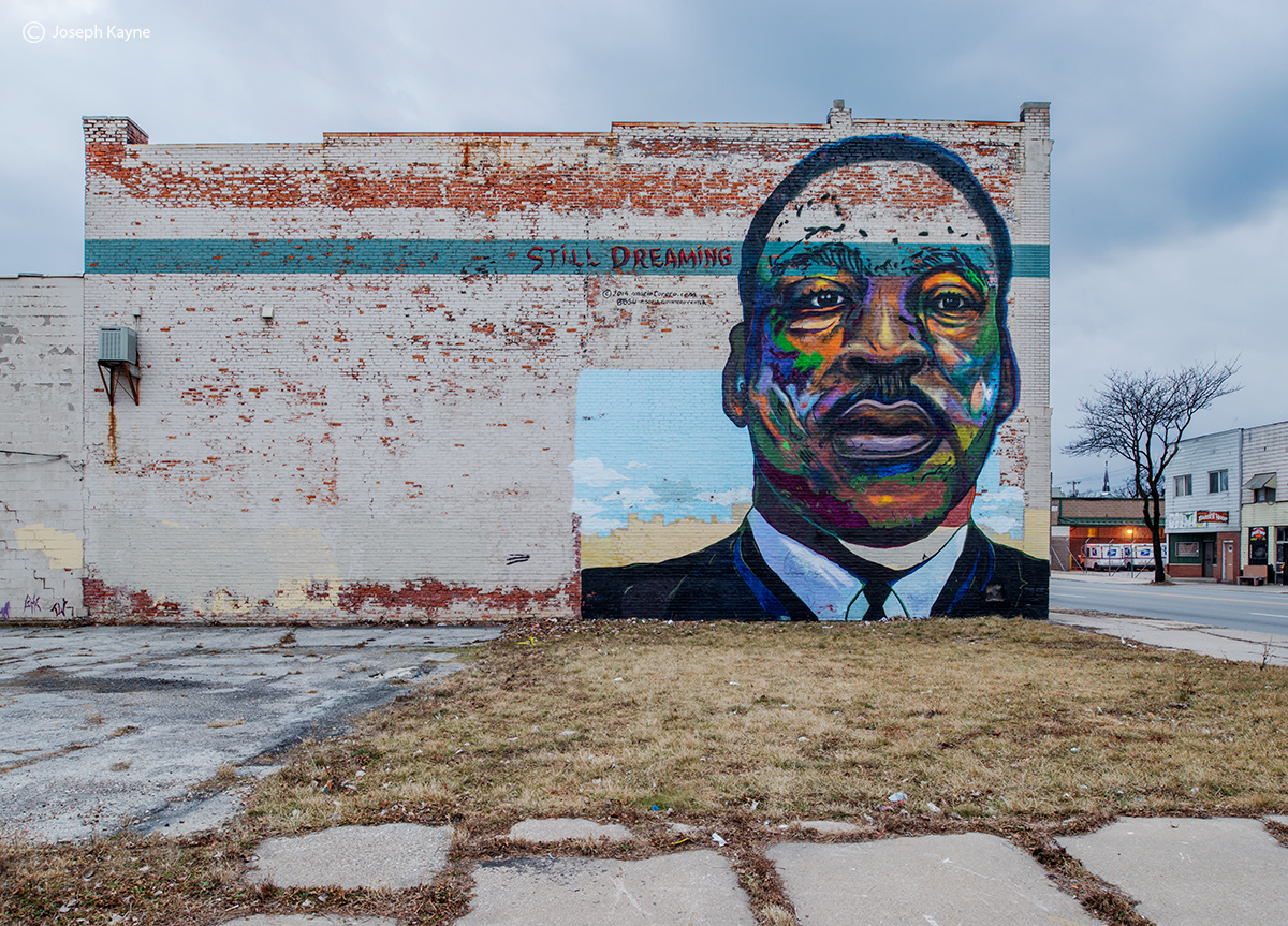 still,dreaming,martin,luther,king,mural,rust,belt, photo