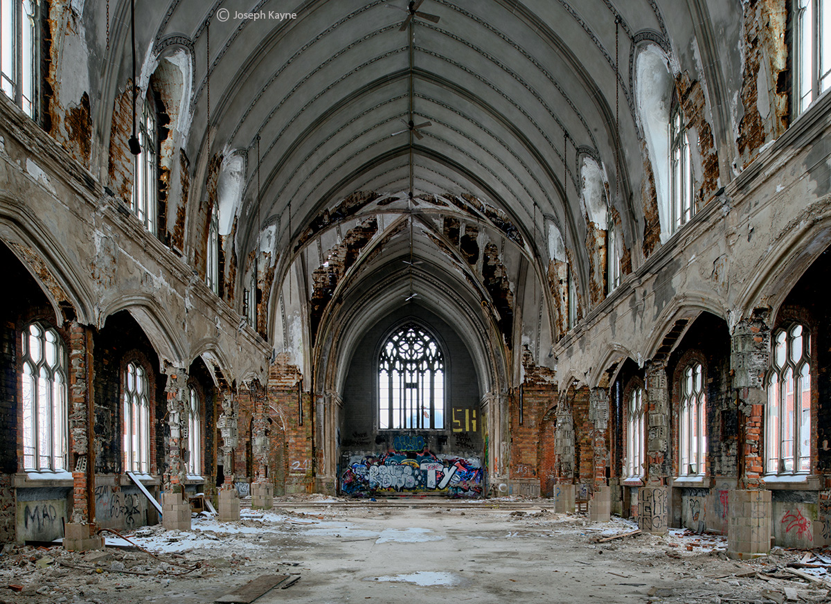 ghost,cathedral,rust,belt,abandoned,church, photo