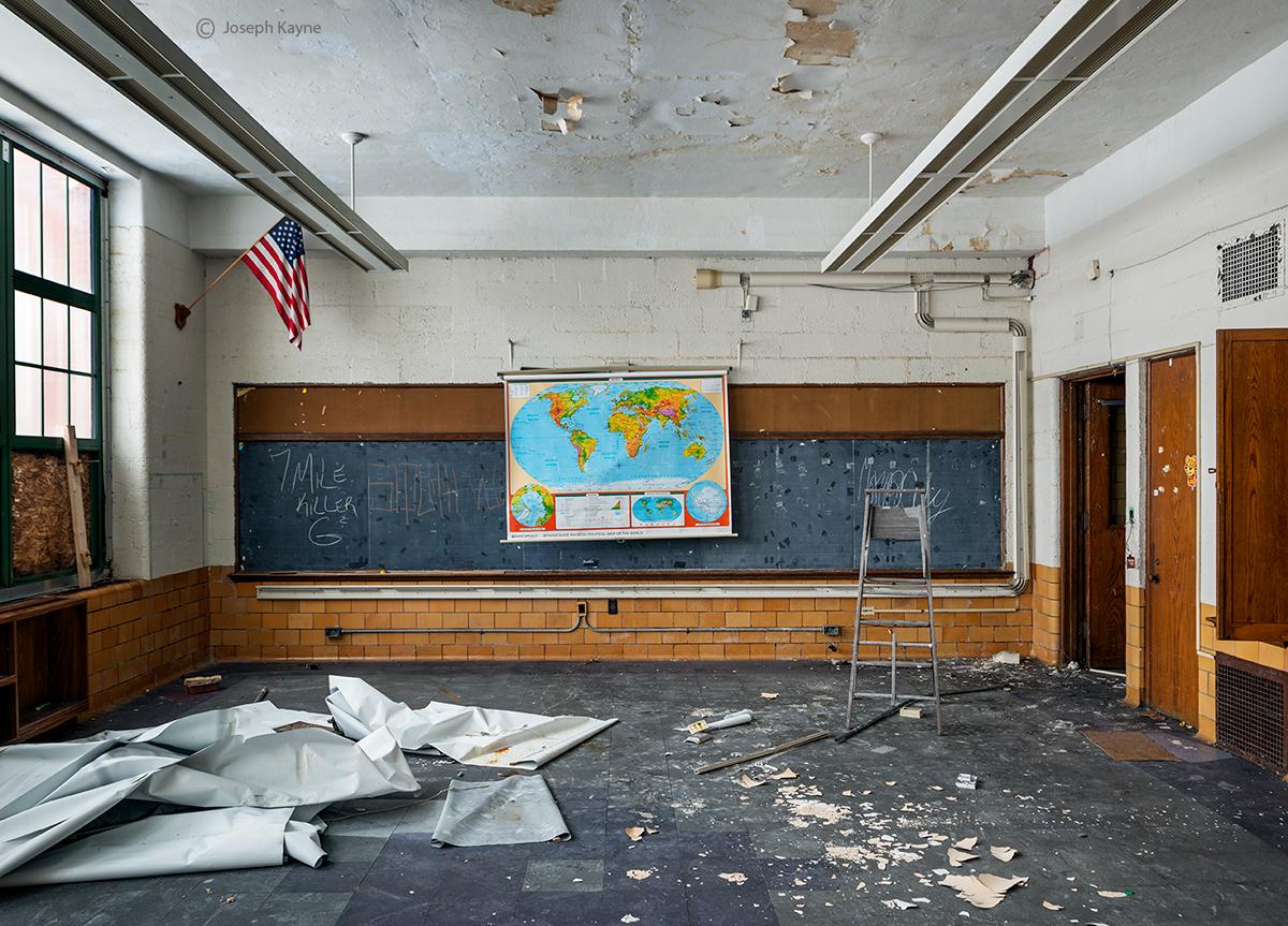 Terra,incognita,abandoned,school,rust,belt, photo