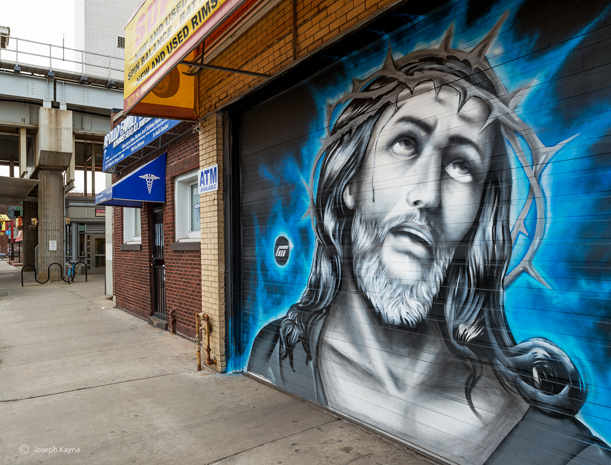 from,the,chicago,barrio,jesus,mural,pilsen, photo