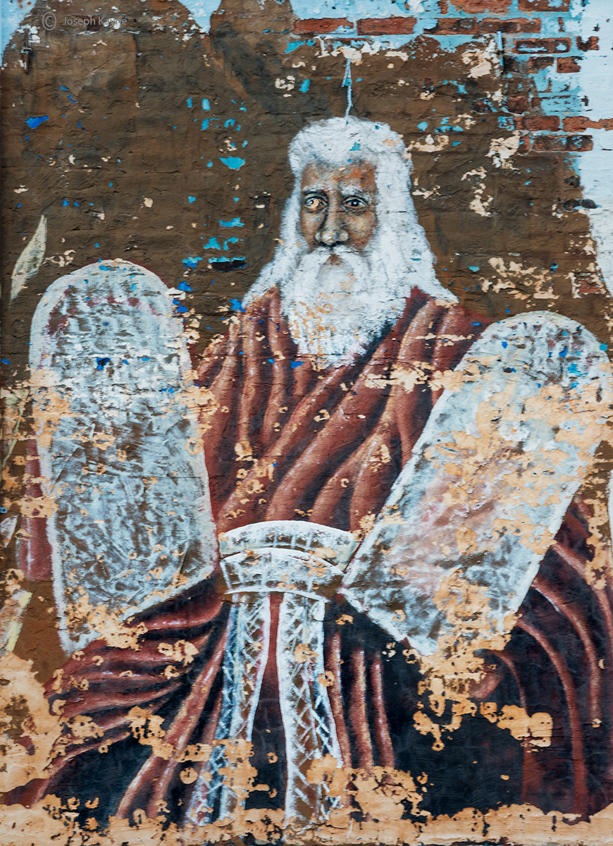 black,moses,mural,fading,chicago,south,side, photo