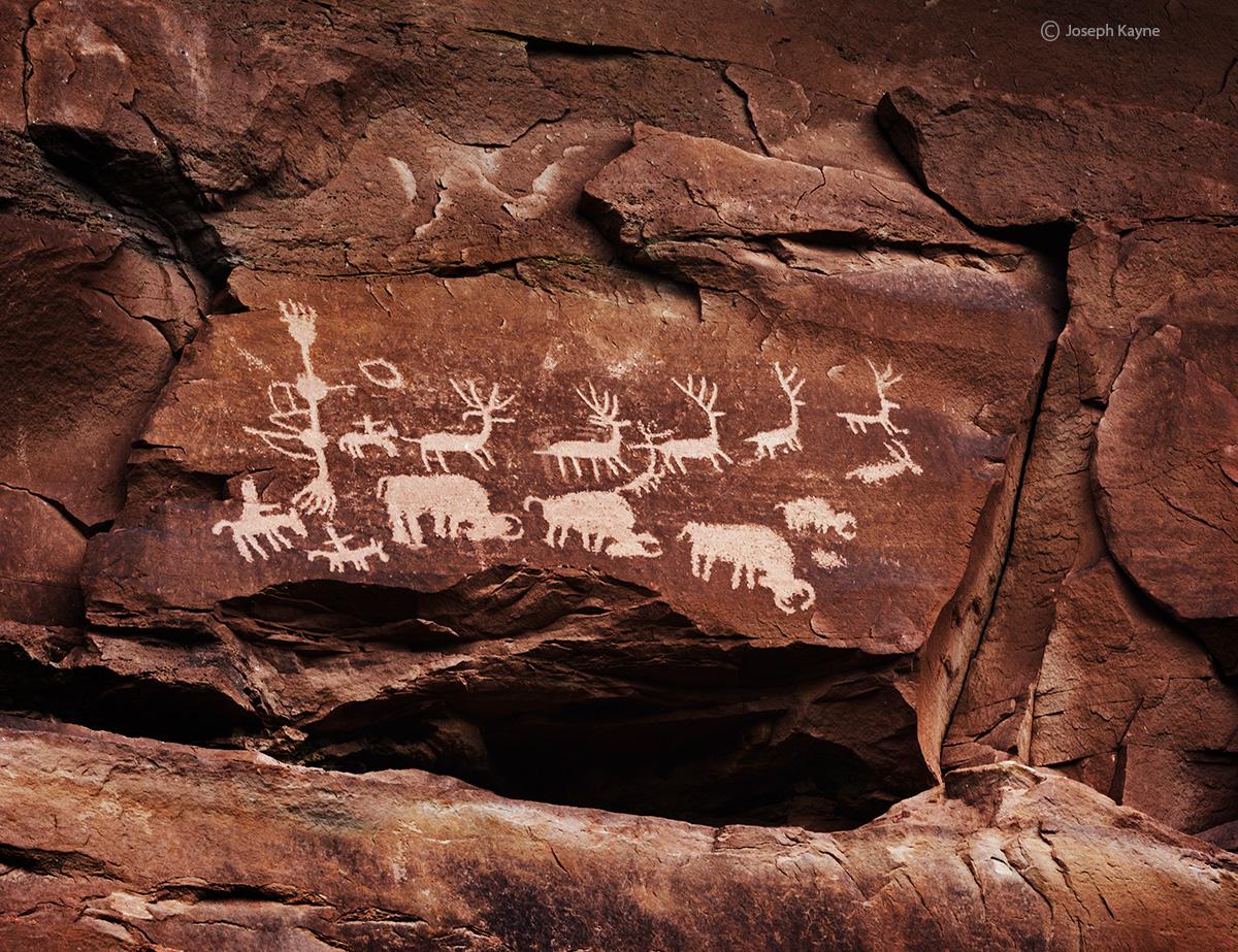 hunt,panel,ancient,hunting,scene,panel,Colorado,plateau, photo