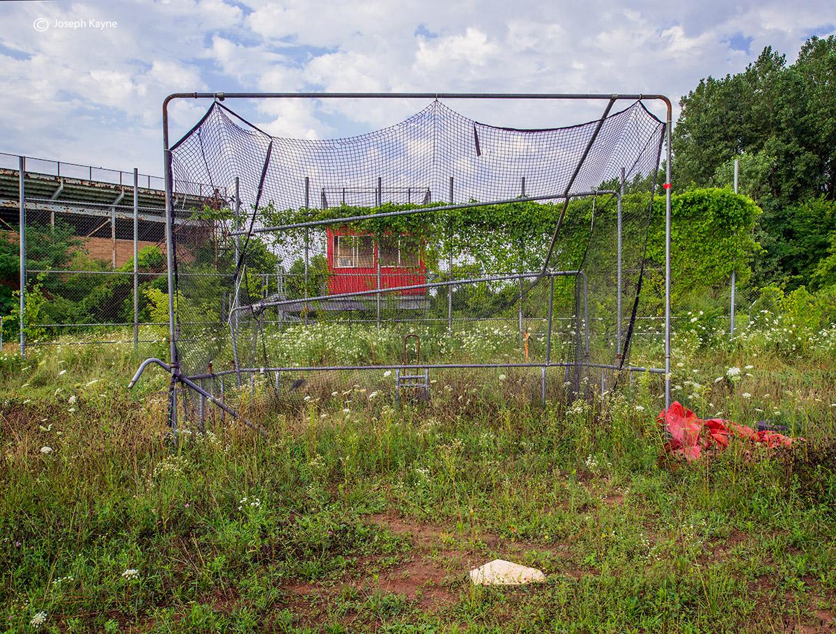 reclamation,abandoned,high,school,baseball,field,rust,belt, photo