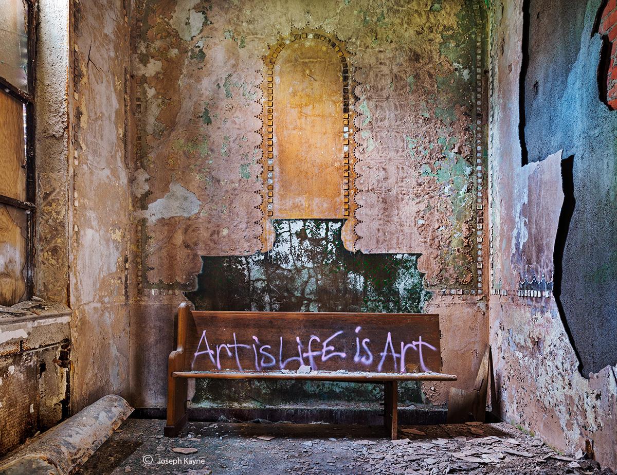 art,is,life,abandoned,church,rust,belt,street,art, photo