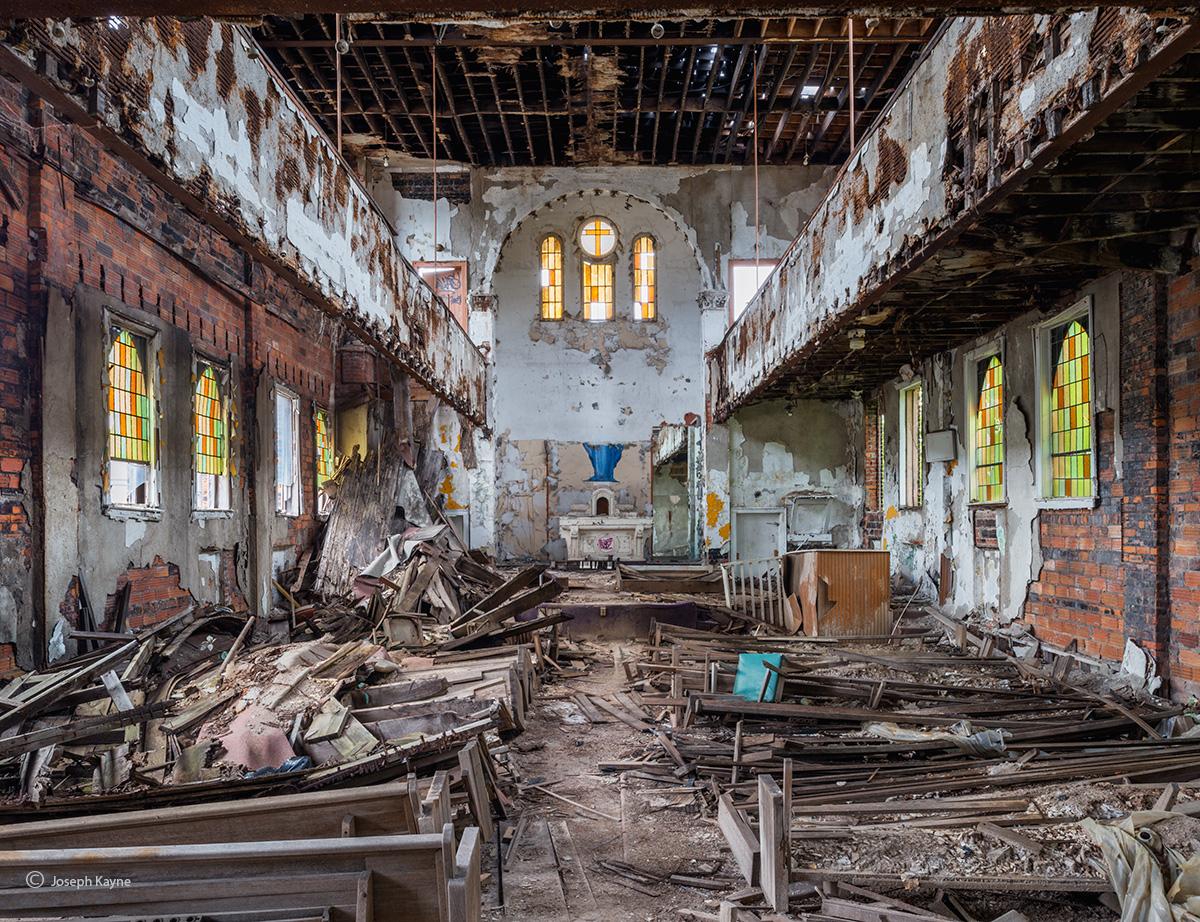 exodus,abandoned,church,rust,belt, photo