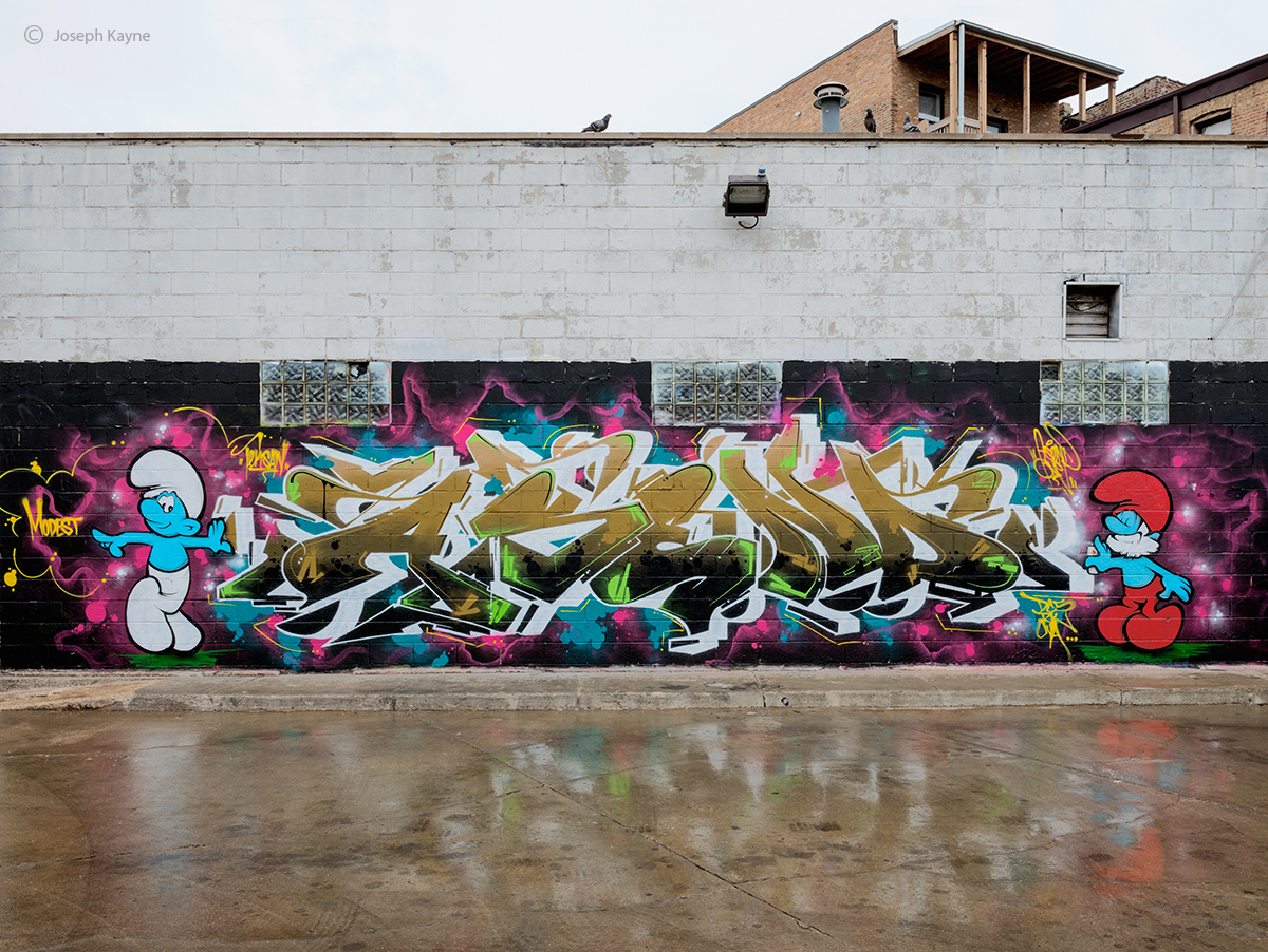 smurfs,graffiti,chicago,asend, photo