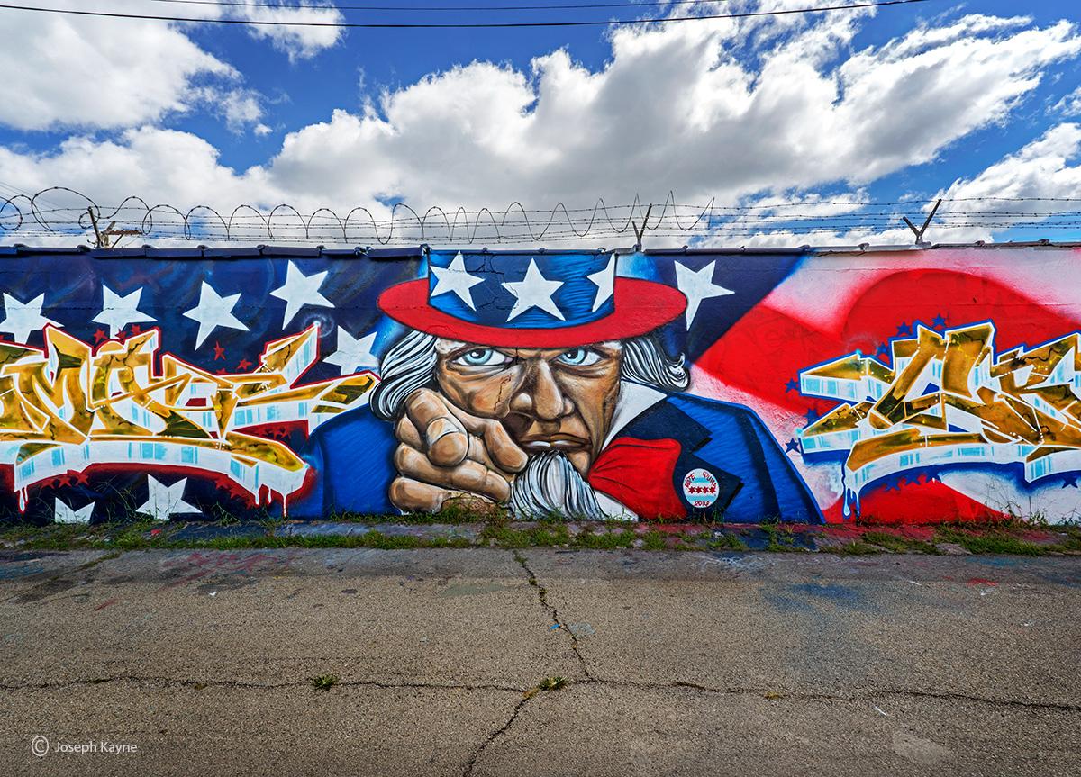 u,S,blues,mural,uncle,same,puma, photo