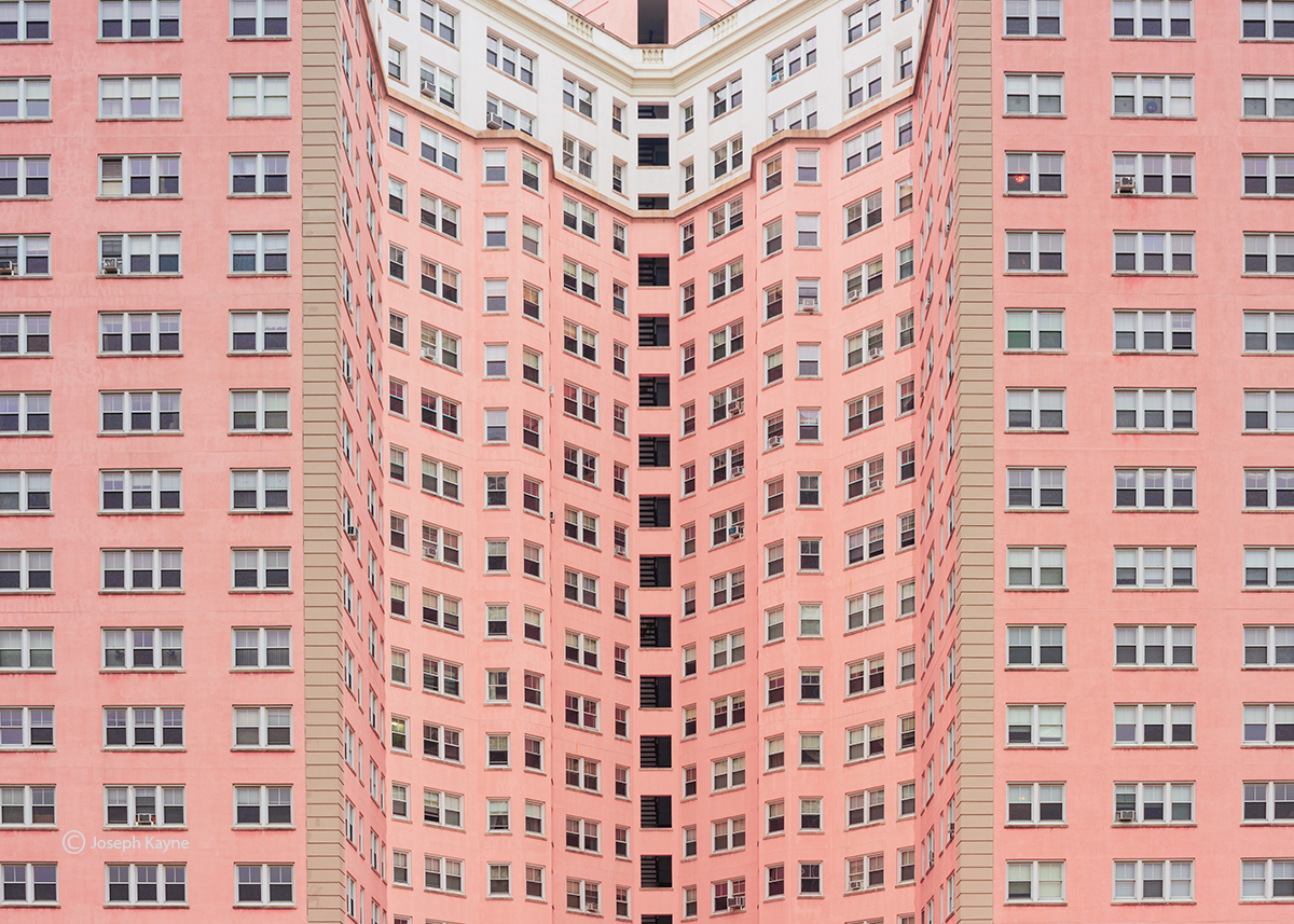 urban,canyon,pink,apartment,building,chicago, photo
