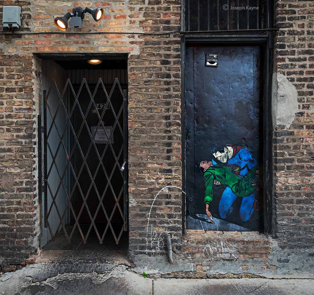 kryptonite,superman,lois,lane,chicago,alley, photo