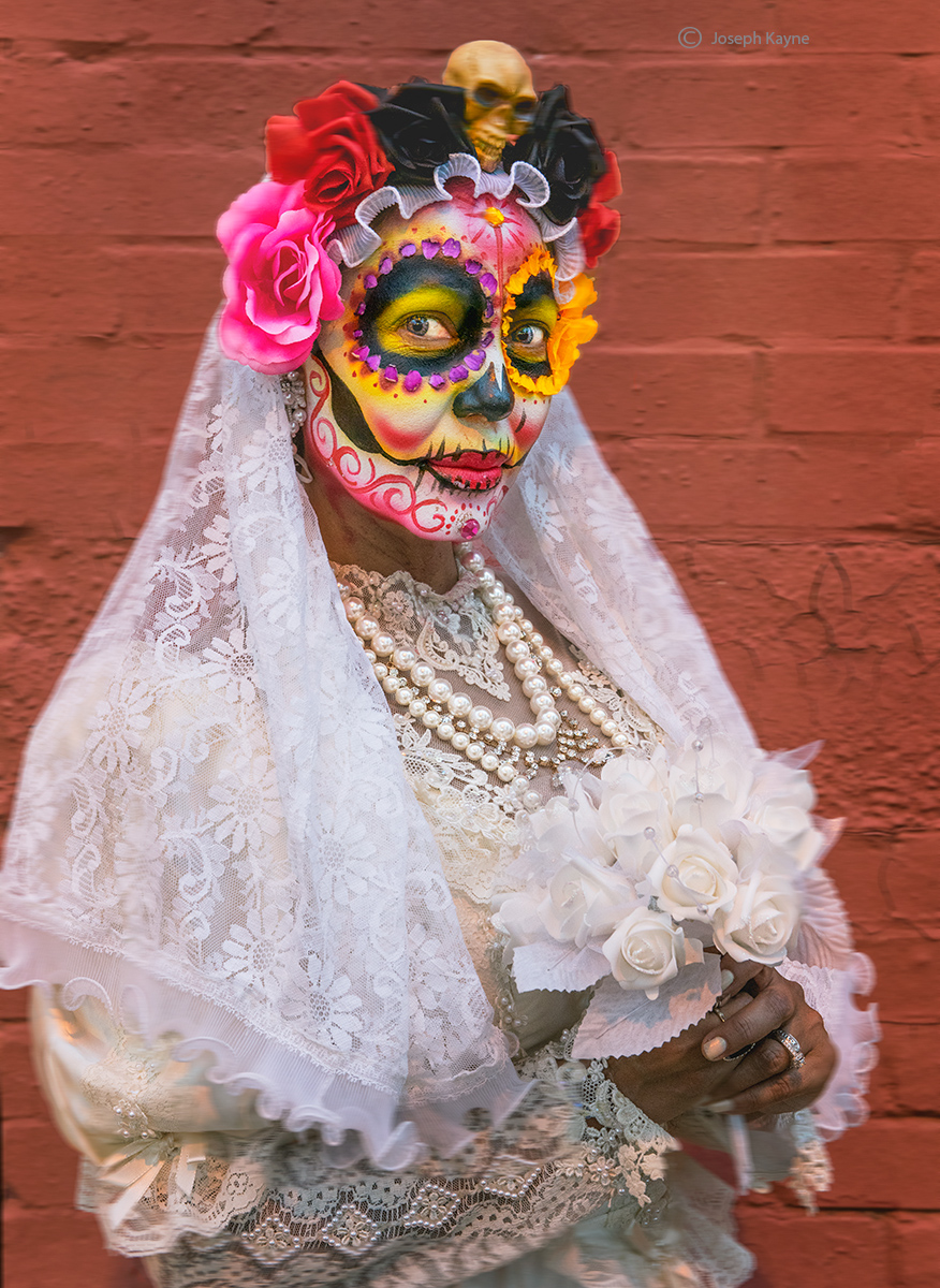 day,of,the,dead,woman,celebration,chicago,pilsen,neighborhood, photo